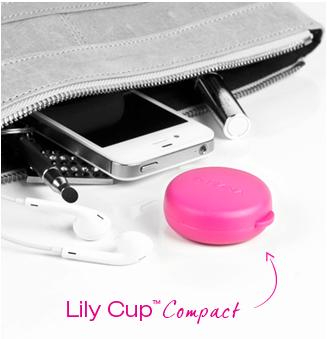 la coupe menstruelle lilycup est pliable dans un sac