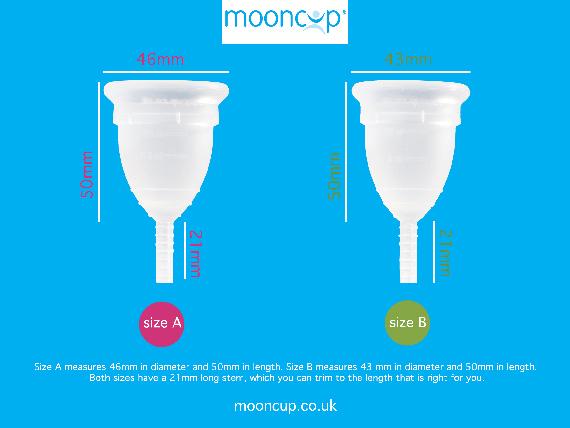 Comparatif des tailles de mooncup